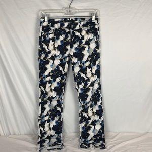 White House Black Market Floral Jeans